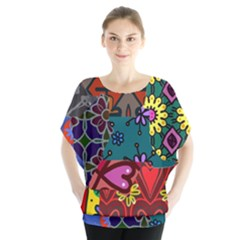 Patchwork Collage Blouse by Simbadda