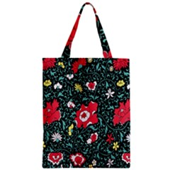 Vintage Floral Wallpaper Background Zipper Classic Tote Bag by Simbadda