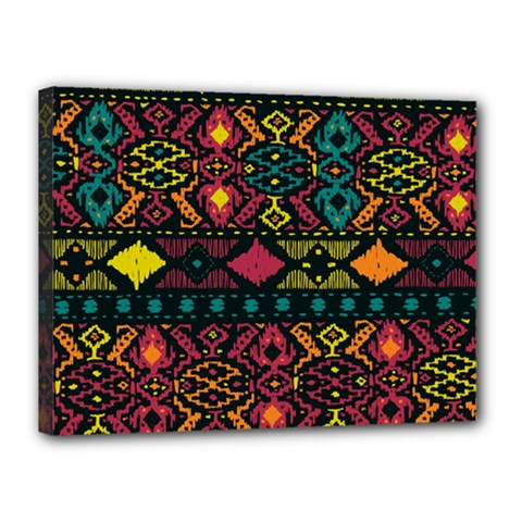 Traditional Art Ethnic Pattern Canvas 16  X 12  by Simbadda