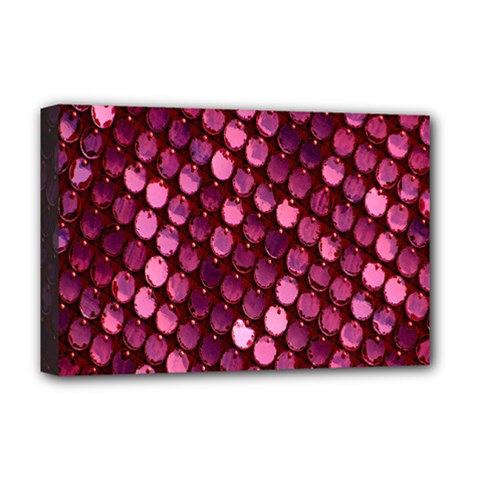 Red Circular Pattern Background Deluxe Canvas 18  X 12   by Simbadda