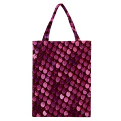 Red Circular Pattern Background Classic Tote Bag by Simbadda