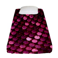 Red Circular Pattern Background Fitted Sheet (single Size) by Simbadda