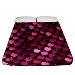 Red Circular Pattern Background Fitted Sheet (king Size)