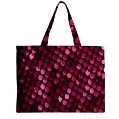 Red Circular Pattern Background Zipper Mini Tote Bag by Simbadda