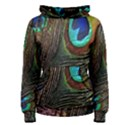 Peacock Feathers Women s Pullover Hoodie View1