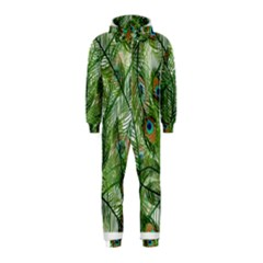 Peacock Feathers Pattern Hooded Jumpsuit (kids)