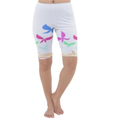 Colorful Butterfly Blue Red Pink Brown Fly Leaf Animals Cropped Leggings  by Alisyart