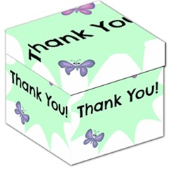 Colorful Butterfly Thank You Animals Fly White Green Storage Stool 12   by Alisyart