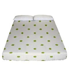 Green Spot Jpeg Fitted Sheet (queen Size) by Alisyart