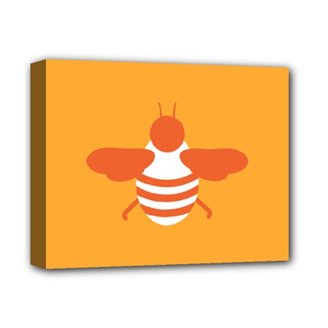 Littlebutterfly Illustrations Bee Wasp Animals Orange Honny Deluxe Canvas 14  X 11  by Alisyart