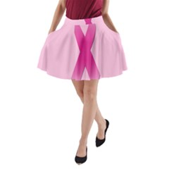 Pink Breast Cancer Symptoms Sign A Line Pocket Skirt by Alisyart