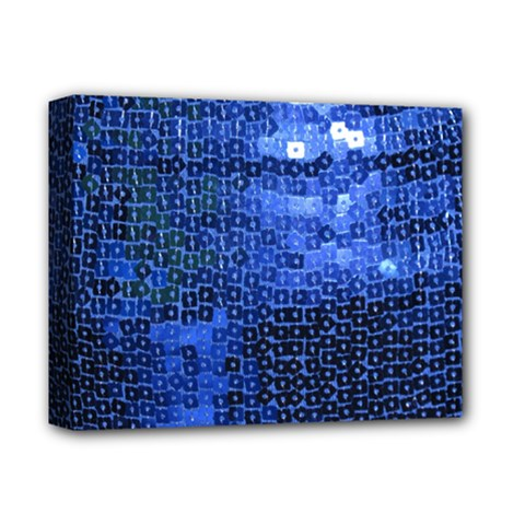 Blue Sequins Deluxe Canvas 14  X 11  by boho