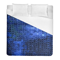Blue Sequins Duvet Cover (full/ Double Size) by boho