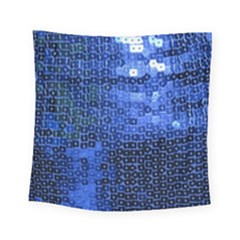 Blue Sequins Square Tapestry (small) by boho