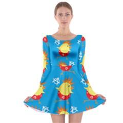 Easter Chick Long Sleeve Skater Dress