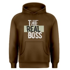 The Real Boss   Men s Pullover Hoodie by FunnySaying