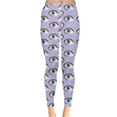 Purple Eyeballs Leggings  by boho