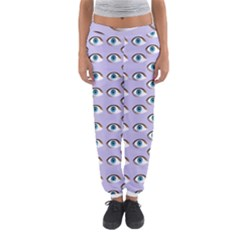 Purple Eyeballs Women s Jogger Sweatpants by boho