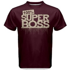 100% Super Boss   Men s Cotton Tee by FunnySaying