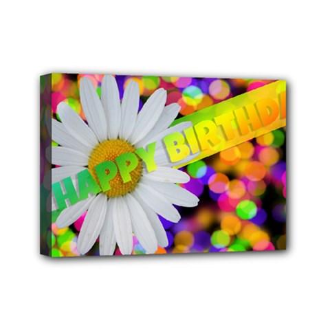 Happy Birthday Mini Canvas 7  X 5  by boho