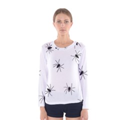 Spiders Women s Long Sleeve Tee by boho