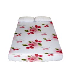 Vintage Cherry Fitted Sheet (full/ Double Size) by boho