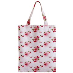 Vintage Cherry Zipper Classic Tote Bag by boho