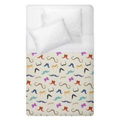 Mustaches Duvet Cover (single Size) by boho