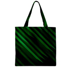 Abstract Blue Stripe Pattern Background Zipper Grocery Tote Bag