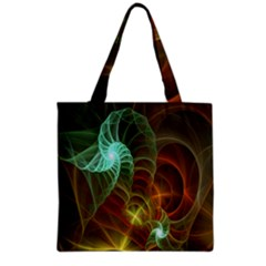 Art Shell Spirals Texture Grocery Tote Bag by Simbadda