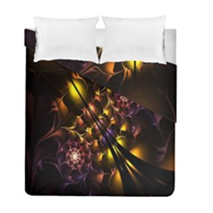Art Design Image Oily Spirals Texture Duvet Cover Double Side (full/ Double Size) by Simbadda