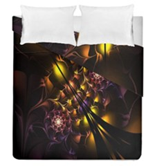 Art Design Image Oily Spirals Texture Duvet Cover Double Side (queen Size) by Simbadda