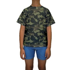 Camo Pattern Kids  Short Sleeve Swimwear