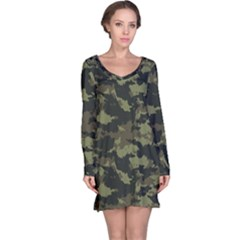 Camo Pattern Long Sleeve Nightdress