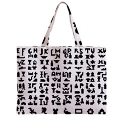 Anchor Puzzle Booklet Pages All Black Zipper Mini Tote Bag by Simbadda