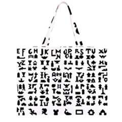 Anchor Puzzle Booklet Pages All Black Zipper Large Tote Bag by Simbadda