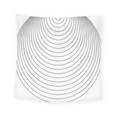 Wave Black White Line Square Tapestry (small) by Alisyart
