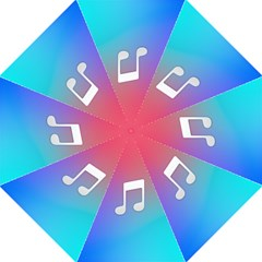 Tunes Sign Orange Purple Blue White Music Notes Golf Umbrellas by Alisyart