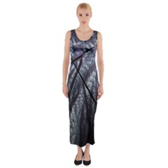 Fractal Art Picture Definition  Fractured Fractal Texture Fitted Maxi Dress by Simbadda
