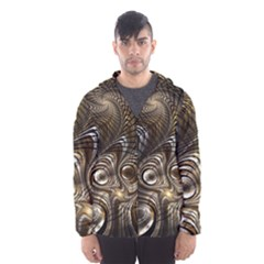 Fractal Art Texture Neuron Chaos Fracture Broken Synapse Hooded Wind Breaker (men) by Simbadda