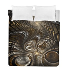 Fractal Art Texture Neuron Chaos Fracture Broken Synapse Duvet Cover Double Side (full/ Double Size)