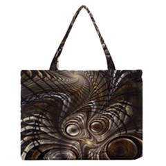 Fractal Art Texture Neuron Chaos Fracture Broken Synapse Medium Zipper Tote Bag