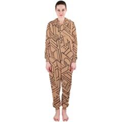 Mechanical Tech Pattern Hooded Jumpsuit (ladies)