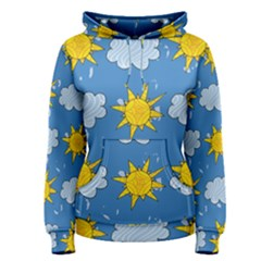 Sunshine Tech Blue Women s Pullover Hoodie by Simbadda