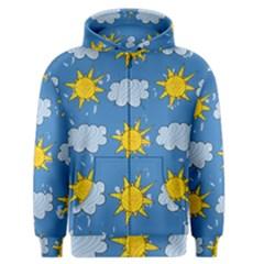 Sunshine Tech Blue Men s Zipper Hoodie by Simbadda