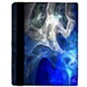 Ghost Fractal Texture Skull Ghostly White Blue Light Abstract Apple iPad Mini Flip Case View3