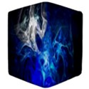 Ghost Fractal Texture Skull Ghostly White Blue Light Abstract Apple iPad Mini Flip Case View4