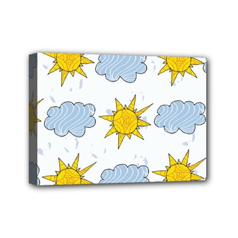 Sunshine Tech White Mini Canvas 7  X 5  by Simbadda