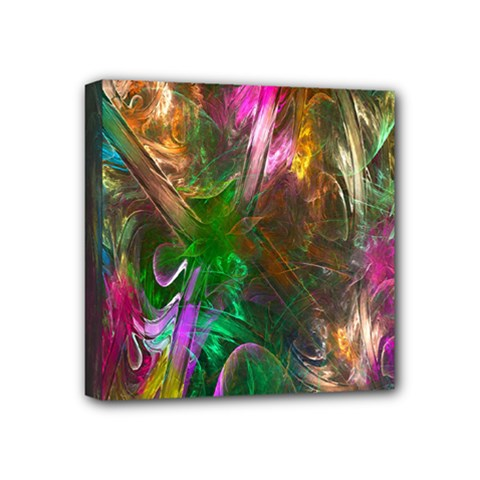 Fractal Texture Abstract Messy Light Color Swirl Bright Mini Canvas 4  X 4  by Simbadda