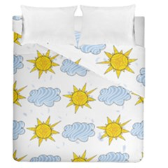 Sunshine Tech White Duvet Cover Double Side (queen Size) by Simbadda